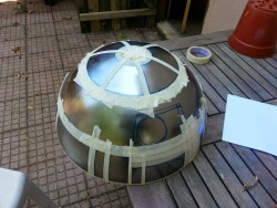 Slowly Slowly, masking up ready for painting My R2 slowly taking shape, body 50% done, head 50%  ...