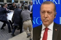 Erdoğan Speaks at Brookings, His Guards Attack Journalists – english