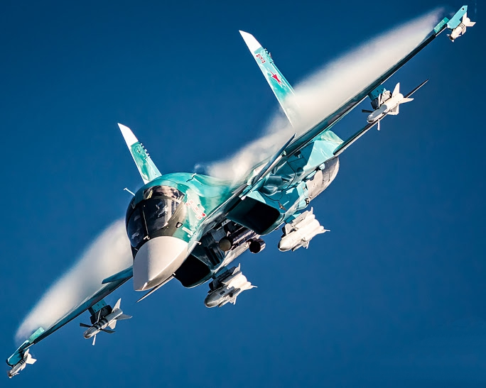 """Sukhoi Su-34 also known as """"Hell Duck"""" NATO reporting name Fullback"""