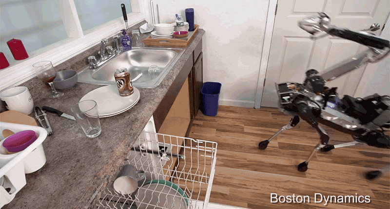 Watch This Freakishly Agile Dog-Bot Do the Dishes