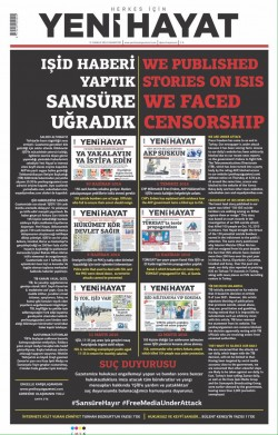 Independent daily defies censor: 'We are under attack over voicing gov't's failure to fight ISIS'