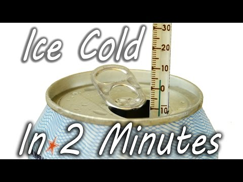 How to Cool a Drink in 2 Minutes – YouTube