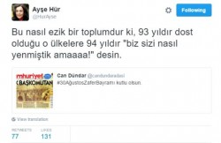 "Criminal Complaint Against Historian Ayşe Gür over 'Defaming Turkishness"" – english"