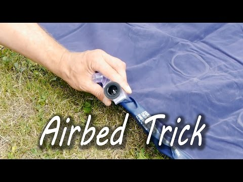 How to Inflate an Airbed Without a Pump – YouTube