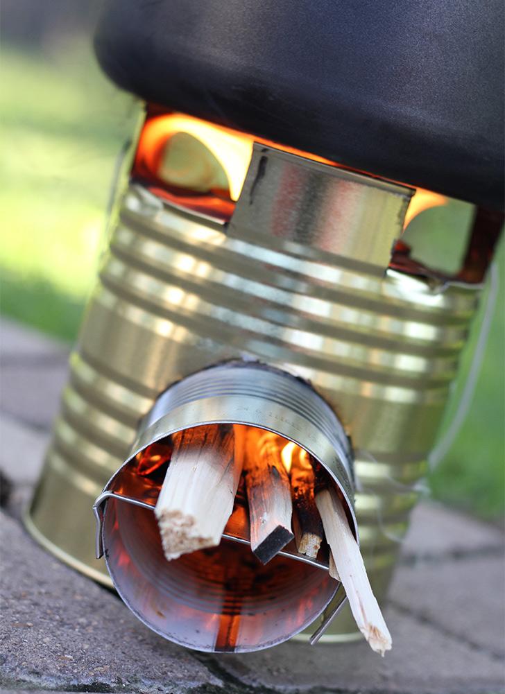How to Make Tiny Rocket Stove – DIY & Crafts – Handimania