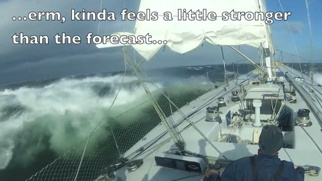 57 Knots of Wind in the Bristol Channel (sailing from Swansea to Cardiff) on Vimeo