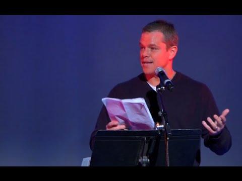 MATT DAMON on ELITE & NWO – Amazing Speech On This Evil World – YouTube