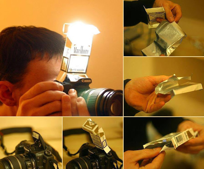 """DIY flash diffuser, another meaning of a Marlboro """"Light""""!"""