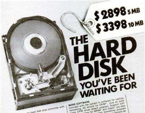 Hard Disk ad from 1981. Wonder how much one would be worth today