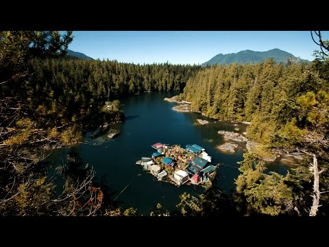 Off the Grid on a Homemade Island – YouTube