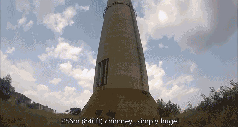 Watching This Guy Unicycle on Top of a 70-Story Chimney Will Scare Your Pants Off