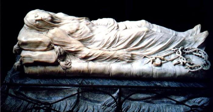 The incredible illusion of veil on marble stone , Giuseppe Sanmartino, 1783