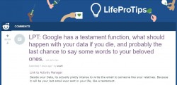 Google has a testament function, what should happen with your data if you die, and probably the  ...