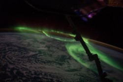 Northern lights as seen from the ISS