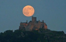 Supermoon over St. Michaels Mount