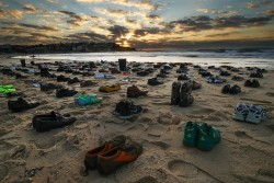 Shoes Left On Bondi Beach As Haunting Reminder Of Male Suicide Victims