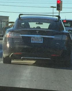 This Tesla number plate