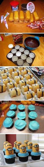 DIY minion cupcakes