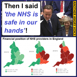 Tory politicians know that they have to lie about how much they love and respect the NHS because ...