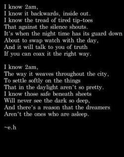 I know 2am