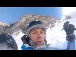 Dude accidentally skis right off a cliff and captures the whole thing on his helmet cam –  ...