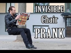 Invisible Chair PRANK    -Julien Magic – YouTube