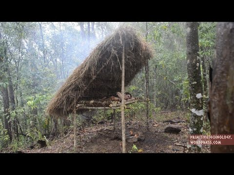 Primitive Technology: Bed Shed – YouTube