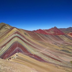 Rainbow Mountain also known as Vinicunca – Willkanuta Mountain Range, Peru.