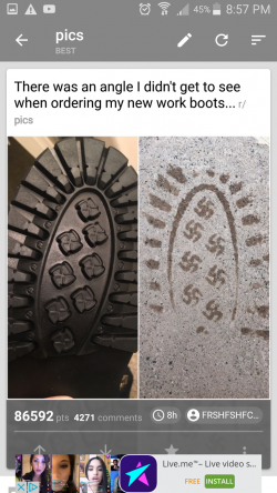 Vicious Pack of Redditors Find out Boots Leave Swastikas in Footprints, and Take Over the Amazon ...