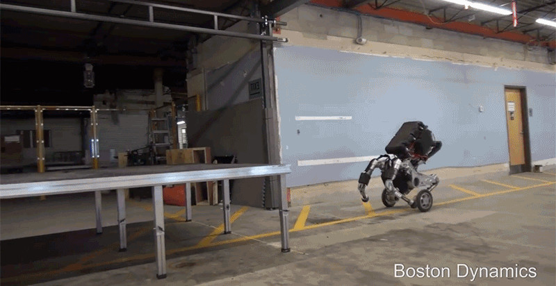 Boston Dynamics' Newest Robot Moves Like a Donkey on Rollerblades