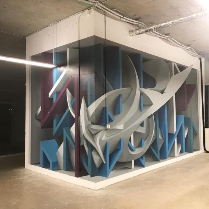 Anamorphic 3D street art