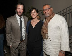 Neo, Trinity and Morpheus reunited at the 'John Wick: Chapter 2' premiere