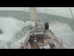 Hallberg Rassy are known for being heavy, sturdy, seaworthy boats.  This video shows Hallberg Ra ...
