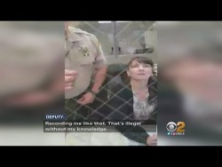San Bernardino Deputy Caught On Video Threatening To Create Charges – YouTube