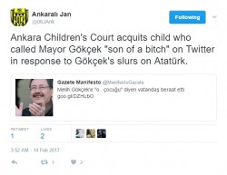 How thin skinned and pathetic do you have to be to take a child to court after you've insu ...
