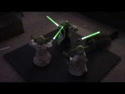 Animatronic Legendary Yoda Battle, 3x Yoda! – YouTube