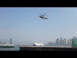 camera shutter speed matches helicopter`s rotor – YouTube