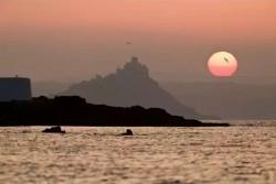 Sunrise over St. Michaels Mount