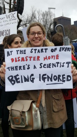 It's insane that in 2017 independent thinking people and scientists need to march to try t ...