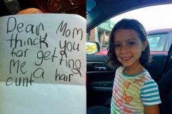 First haircut thank you letter