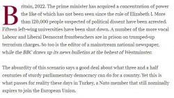 """Michael Daventry on Twitter: """"A powerful opening to this morning's leader on Turkey  ..."""