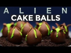 ALIEN EGG CAKE BALLS – NERDY NUMMIES – ALIEN COVENANT – YouTube