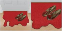 Blood spill doormat | Dangerous Minds