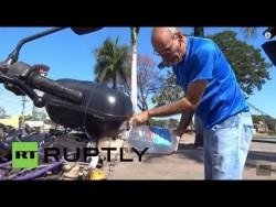 Brazil: This motorbike runs on WATER! – YouTube