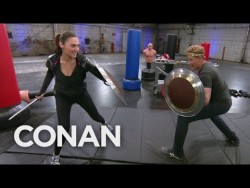 Conan Works Out With Wonder Woman Gal Gadot  – CONAN on TBS – YouTube