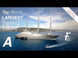 Drone Video – SAIL YACHT A – The world largest sailing yacht in Cannes – YouTube