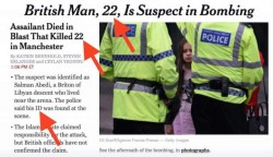 "Manchester false flag: ""Man, 22, kills 22 on May 22"" 
