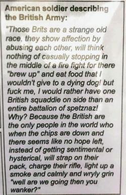 I think this describes British culture pretty well :)