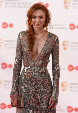Poldark star Eleanor Tomlinson brings glamour to the Baftas in a dress Demelza would never wear  ...