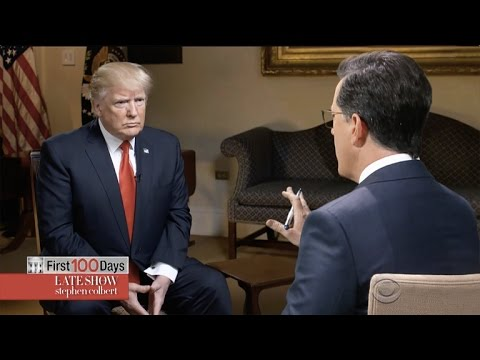 Stephen Colbert Goes One-On-One With Trump – YouTube